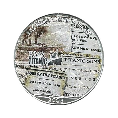 2005 1oz Silver Eagle – RMS Titanic – News Reports